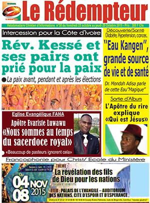Le Redempteur sur Abidjan Tribune