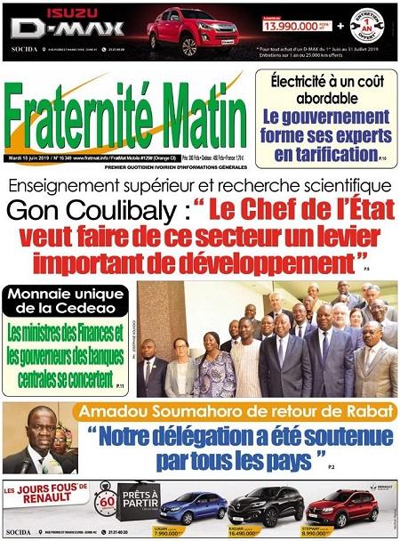 Fraternite Matin sur Abidjan Tribune