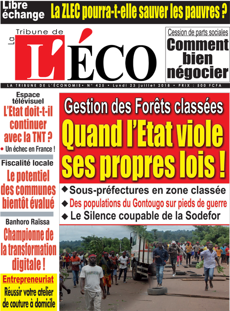 La Tribune de l'Economie sur Abidjan Tribune