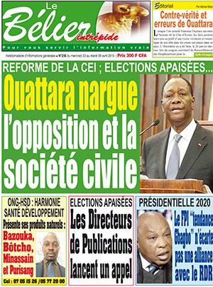 Le Belier sur Abidjan Tribune