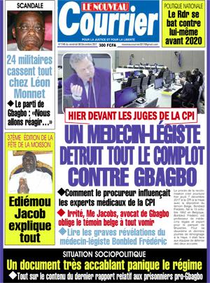 Le Nouveau Courrier sur Abidjan Tribune