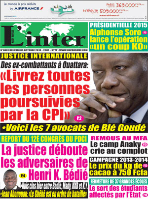 INTERNATIONAL JUSTICE TRIBUNE - VERSION FRANCAISE PAR EMAIL