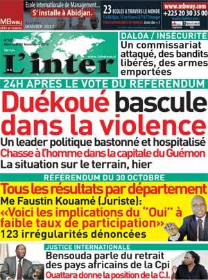 Retrait De L'UA De La CPI | Abidjan Tribune Titrologie - Part 2