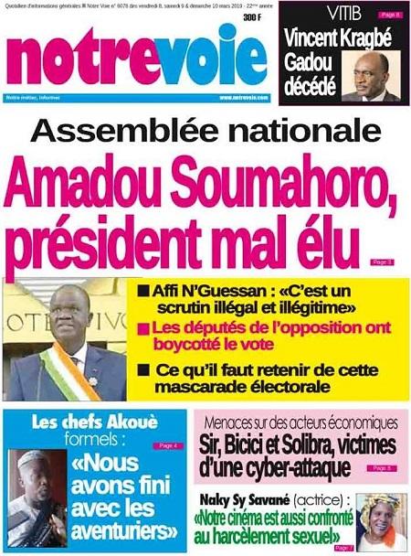 Notre Voie sur Abidjan Tribune